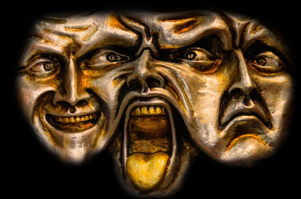 twarze różne emocje psychodelik leczący traume