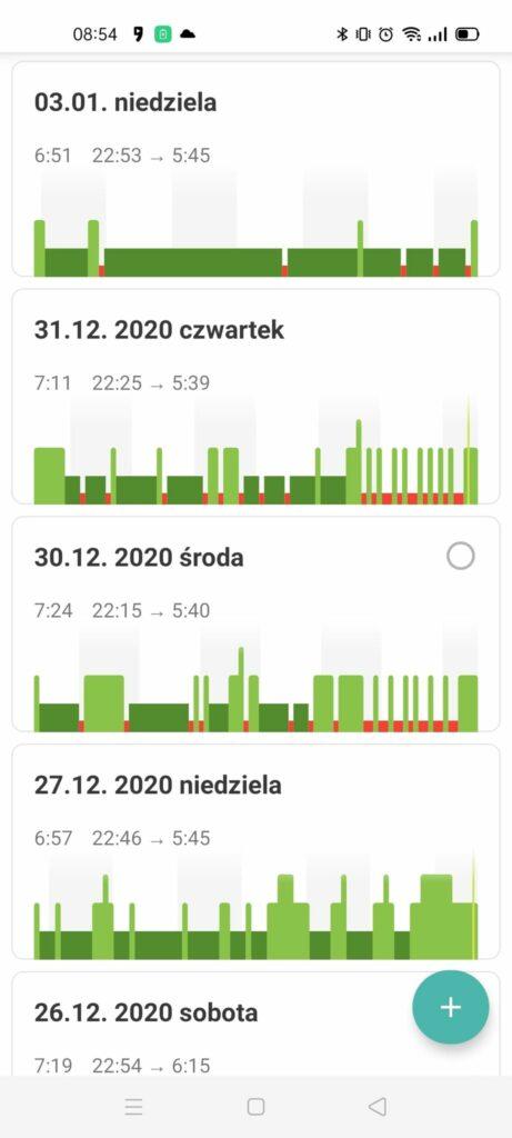 sleep as android monitorowanie snu